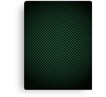 Green Carbon Fibre iPhone / Samsung Galaxy Case Canvas Print