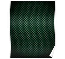 Green Carbon Fibre iPhone / Samsung Case Poster