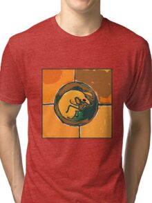 SLEEPING ORANGE DOG  Tri-blend T-Shirt