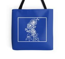 Deep Ocean Blue with White Camellias Tote Bag