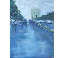 Rainy Day Traffic Photographic Print
