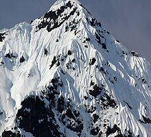 Sunny Snowy Mountain With Blue Sky by Happystiltskin