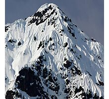 Sunny Snowy Mountain With Blue Sky Photographic Print