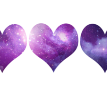 Galaxy Hearts Sticker