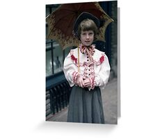 Girl with brolly Greeting Card