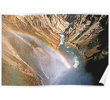 Colorful Yellowstone Canyon Poster