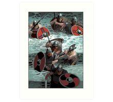 Vikings wading Art Print