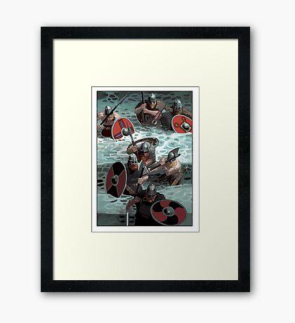 Vikings wading Framed Print