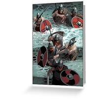 Vikings wading Greeting Card