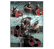 Vikings wading Photographic Print