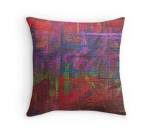 Abstract painted canvas Throw Pillow