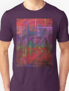 Abstract painted canvas Unisex T-Shirt