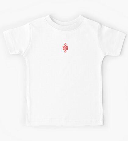 Eternity Knot Buddha quotation t-shirt Kids Tee