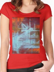 Abstract painted canvas #2 Women's Fitted Scoop T-Shirt