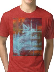 Abstract painted canvas #2 Tri-blend T-Shirt