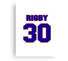 National baseball player Brad Rigby jersey 30 Canvas Print