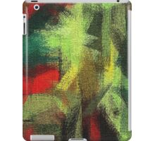 Abstract painted canvas #3 iPad Case/Skin