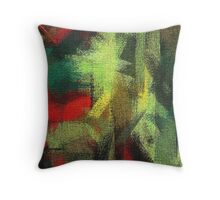 Abstract painted canvas #3 Throw Pillow