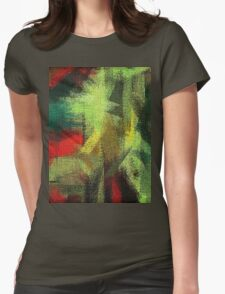 Abstract painted canvas #3 Womens Fitted T-Shirt