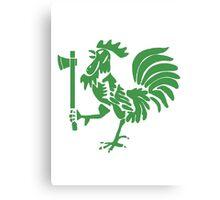 Kenyan Court of Arms Cockerel with Axe - Green Canvas Print