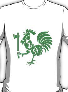 Kenyan Court of Arms Cockerel with Axe - Green T-Shirt