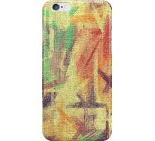 Abstract painted canvas #4 iPhone Case/Skin