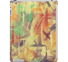 Abstract painted canvas #4 iPad Case/Skin