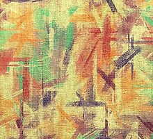 Abstract painted canvas #4 by Nhan Ngo