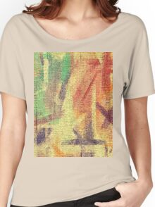 Abstract painted canvas #4 Women's Relaxed Fit T-Shirt