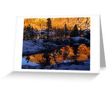 Ottoway Lake at Sunset Greeting Card