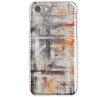 Abstract painted canvas #5 iPhone Case/Skin