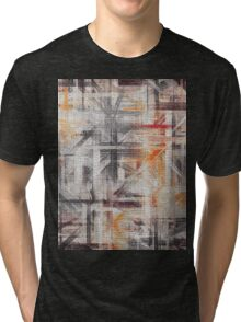 Abstract painted canvas #5 Tri-blend T-Shirt