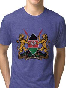 Kenyan Court of Arms Tri-blend T-Shirt