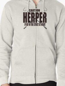 CAUTION HERPER Zipped Hoodie