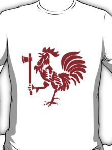 Kenyan Court of Arms Cockerel with Axe - Red T-Shirt