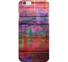 Abstract painted wood iPhone Case/Skin