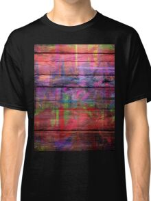 Abstract painted wood Classic T-Shirt