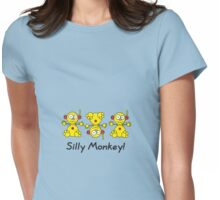 Silly Monkey! Womens Fitted T-Shirt