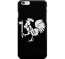 Kenyan Court of Arms Cockerel with Axe - White iPhone Case/Skin