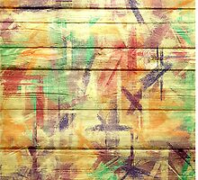 Abstract painted wood #4 by Nhan Ngo