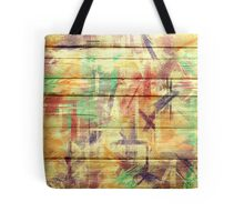Abstract painted wood #4 Tote Bag