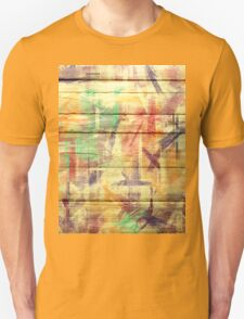 Abstract painted wood #4 Unisex T-Shirt