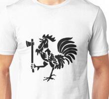 Kenyan Court of Arms Cockerel with Axe - Black Unisex T-Shirt