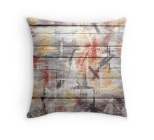 Abstract painted wood #5 Throw Pillow