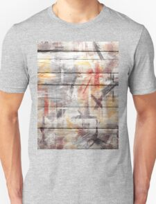 Abstract painted wood #5 Unisex T-Shirt