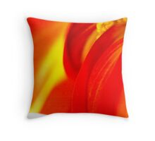 Macro Floral Throw Pillow