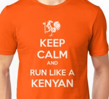 Keep Calm and Run Like a Kenyan - White Unisex T-Shirt