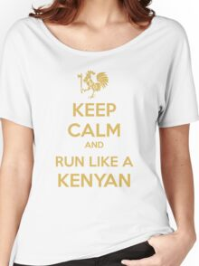 Keep Calm and Run Like a Kenyan - Golden Women's Relaxed Fit T-Shirt