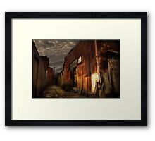 Fitzroy back alley Framed Print