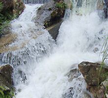 cross-over - of flowing water   (and spirits ?) by gaylene